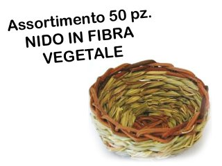 Assortimento 50pz Nido in fibra vegetale