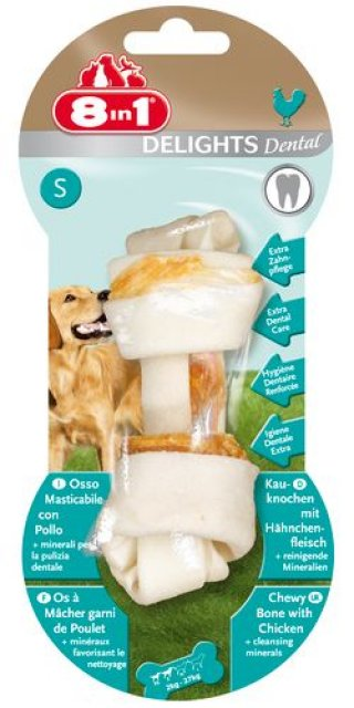 DENTAL Delights Osso per Cani S (Piccolo - 1pz,50gr) 8in1